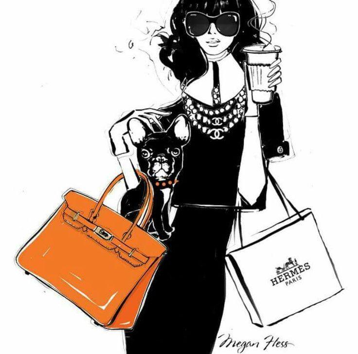 Megan Hess Illustration - Monday Coffee