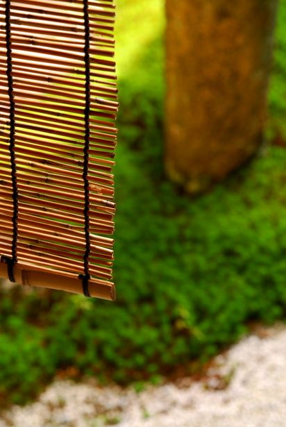 Japanese bamboo screen, Misu 御簾