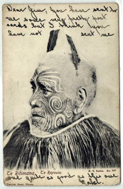 1905 New Zealand Maori Chief Te Ritimana Rapoutu