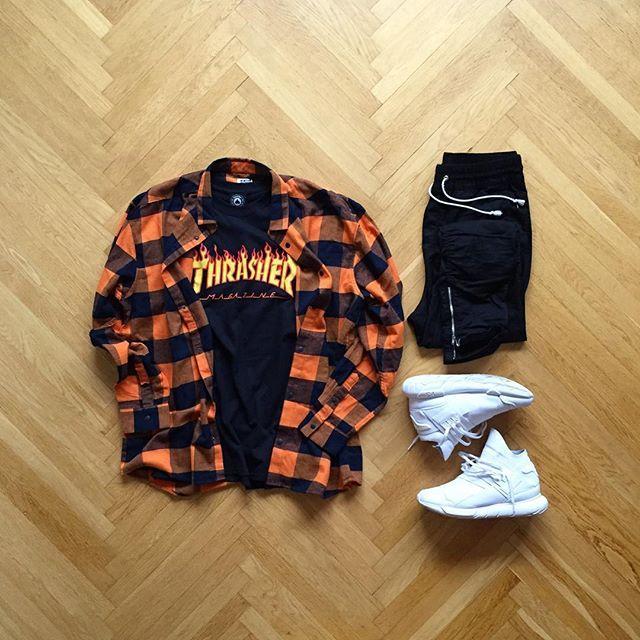 WEBSTA @ eezy.outfits - Eezy✔️ : Weekday Shirt: Thrasher Tee: H