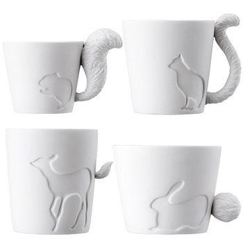 2 pçs/lote japão KINTO autênticos vela luz relevo Animal floresta Bone China canecas de cerâmica do copo de café grátis frete atacado