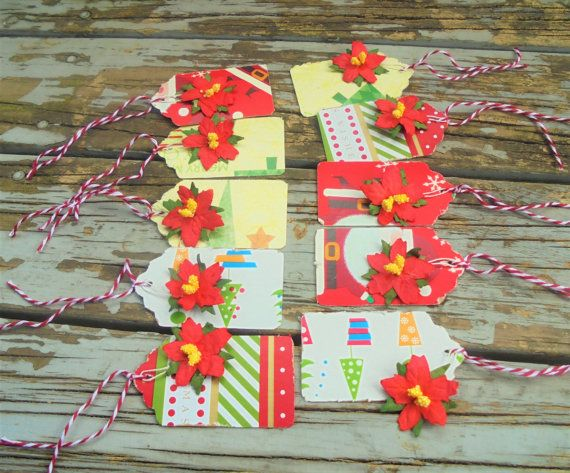 Christmas Gift Tags  Set of 10  recycled by RogueKissedCraft