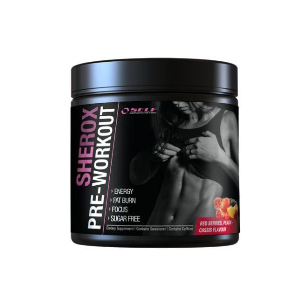 SHEROX Pre-Workout fra Self Omninutrition øker ytelsen din på trening! Denne shaken øker prestasjonen, konsentrasjon, fettforbrenning og restitusjon. Formelen inneholder aminosyrer, urteekstrakt og koffein, og er spesielt utviklet for henne. Du får større utbytte av treningen og bedre mental prestasjon!