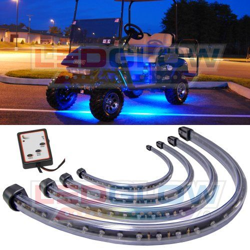 4pc Blue LED Golf Cart Underbody Underglow Light Kit