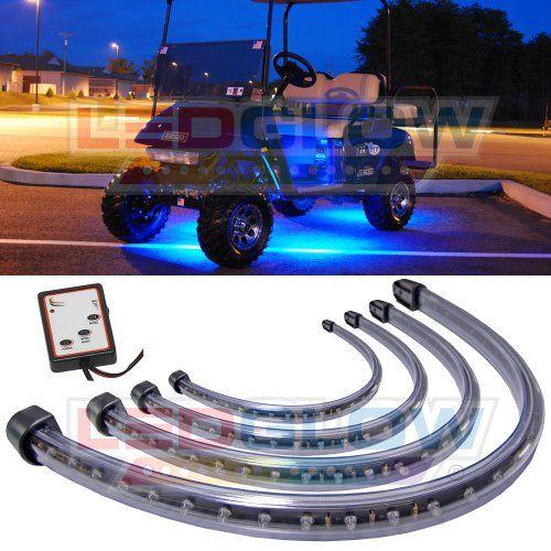 4pc Blue LED Golf Cart Underbody Underglow Light Kit