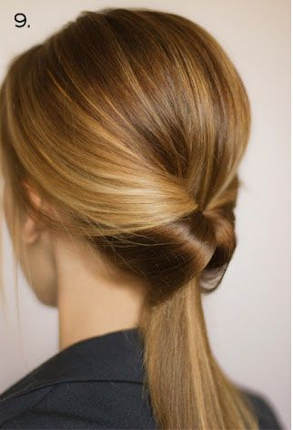 This super cute hairstyle takes less than a minute. All you do is once you have on your ponytail, in the middle you make a small opening so that you can slip the rest of it through. I wear it to school a lot, it's a great way to glam up a ponytail :)