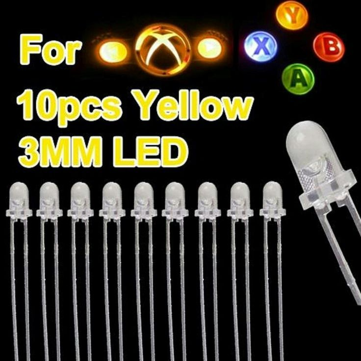 MODFREAKZ™ Xbox 360 ABXY and Guide Button Replacement Kit 3MM LED Backlights Yellow 10 Count #xboxone #gaming #accessories #diy