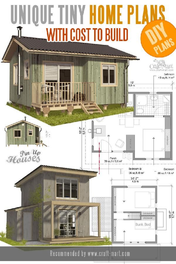 Unique Small House Plans Tiny Homes Cabins Sheds Craft Mart Tiny House Plans Small House Plans Unique Small House Plans