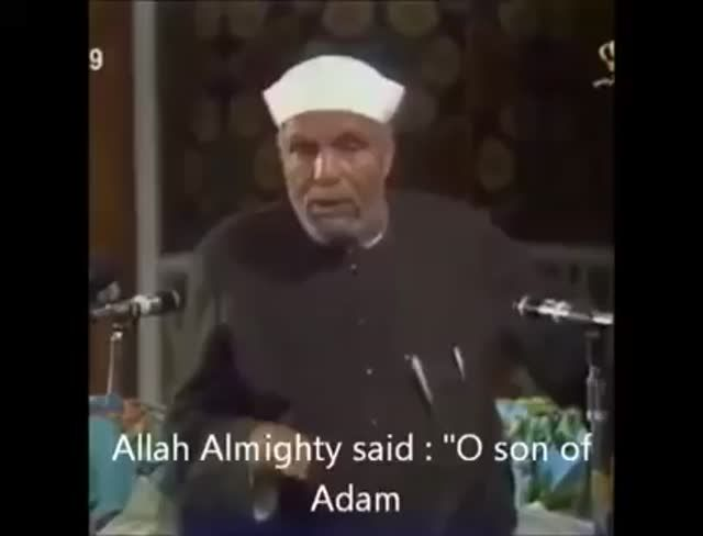 "iheartallah: ""This video makes me smile and cry at the same time - Subhan'Allah Speaker: Muhammad Metwali Alsharawi """
