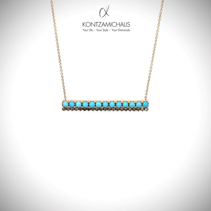 Getting in summer mood with sea colors on your neck. Perfect match for your tanned looks! #KontzamichalisJewellery
