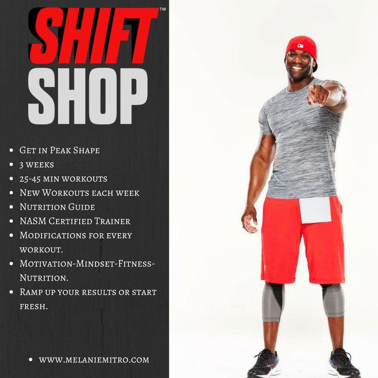 Shift Shop, Peak Shape, Melanie Mitro, What is it, Chris Downing, Beachbody Workout