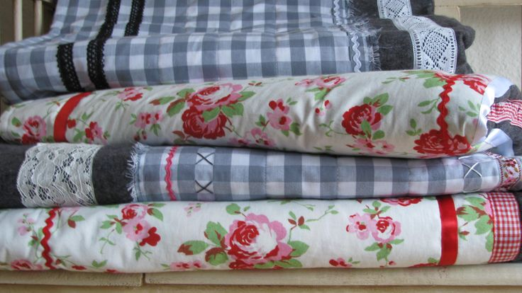 Zelf gemaakte woonplaids  homemade country living plaid. www.desoetelaer.nl