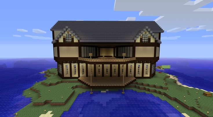 Porch columns and roof not a square building for Big modern houses on minecraft