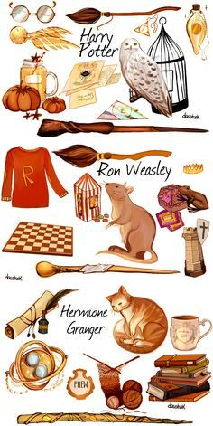 Harry Potter in details, each character represents their own symbols and stories