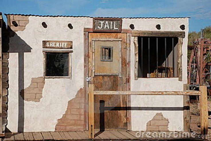 Old Western Cowboy Jail Stock Image - Image: 12271881