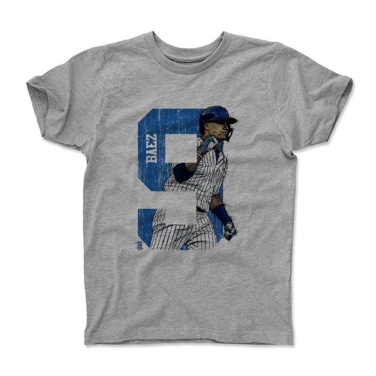 Javier Baez Fist B Chicago MLBPA Officially Licensed Toddler and Youth T-Shirts 2-14 years