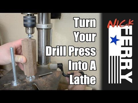 I had the idea to try and turn my drill press into a lathe of sorts. This is what I came up with. This was also a scrap wood challenge. Scrap Bin Challenge P...