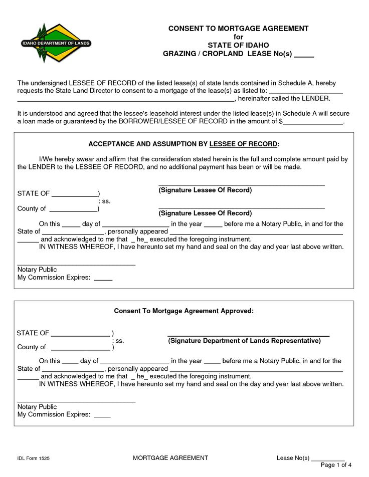 Mortgage Agreement Template Printable Act Of Sale And Mortgage