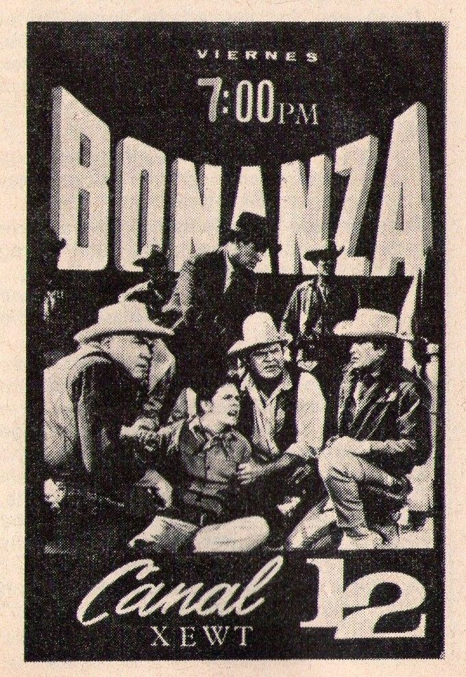 1971 Tv Ad~BONANZA~XEWT in TIJAUNA,MEXICO~INDEPENDENT STATION~MICHAEL LANDON