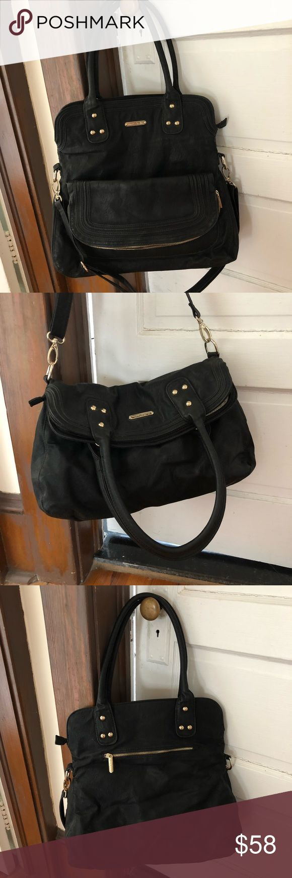 {Timi & Leslie} Hayley Diaper Bag Black leather diaper bag with great inside pockets. Bag comes with matching changing pad. Cross body and stroller straps included. Timi & Leslie Bags Baby Bags