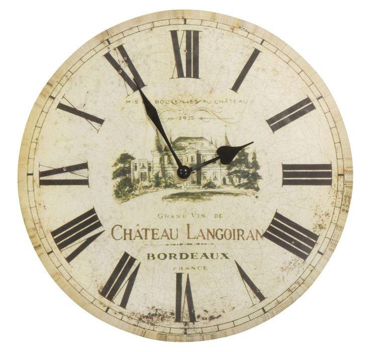 Zegar ścienny ACTA śr.30cm motyw wina w JYSK.