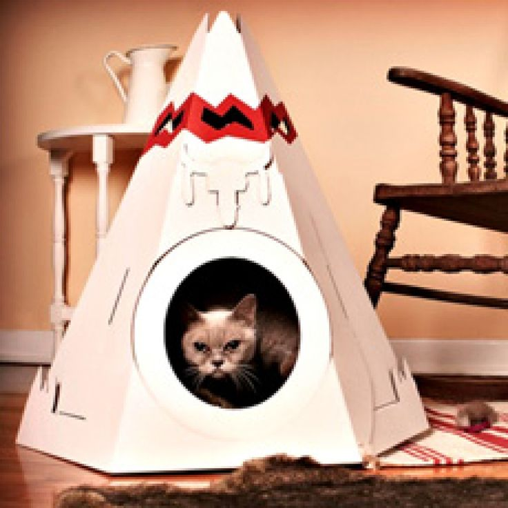 17 best images about cardboard teepees on pinterest diy for Diy cat teepee
