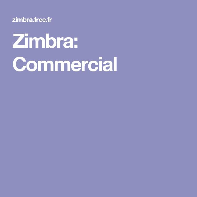 Zimbra: Commercial