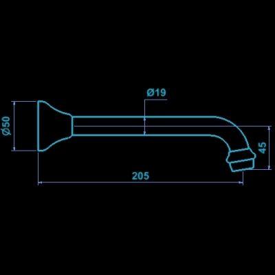 MERINO 200mm WALL SPA BATH SPOUT - Ramtaps