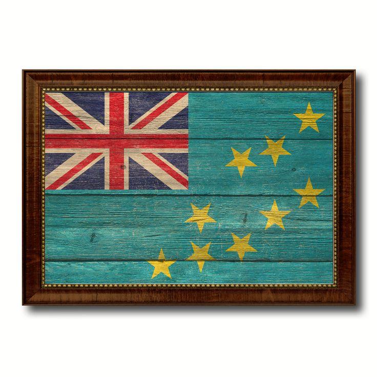 Tuvalu Country Flag Texture Canvas Print, Custom Frame Home Decor Gift Ideas Wall Decoration