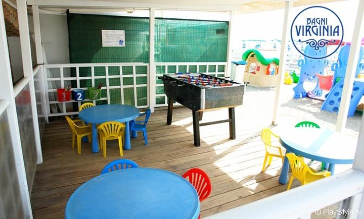 indoor play area for children at the beach #loano #liguriaSpiagge, Bagni, Stabilimenti Balneari Loano - Savona - PlayBeach - Spiaggia, Bagno, Stabilimento Balneare Virginia Loano - (SV) Liguria - Italy