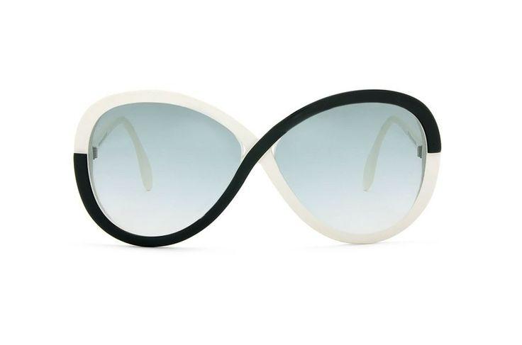 Op Art acetate sunglasses, Shilhouette, Austria, c. 1970s #glasses #taschen #opticametaxas