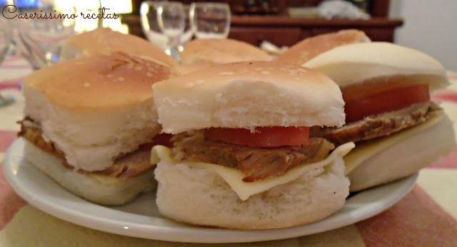 SANDWICHES DE PECETO (REDONDO) AL VINO BLANCO para eventos | Caserissimo