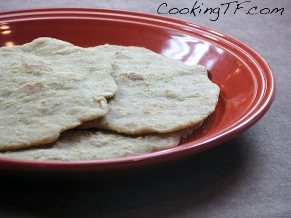 Soaked Gluten-Free Naan Bread.  My kids love this!  It makes for a wonderful side dish or an accompanyment to Indian meals.