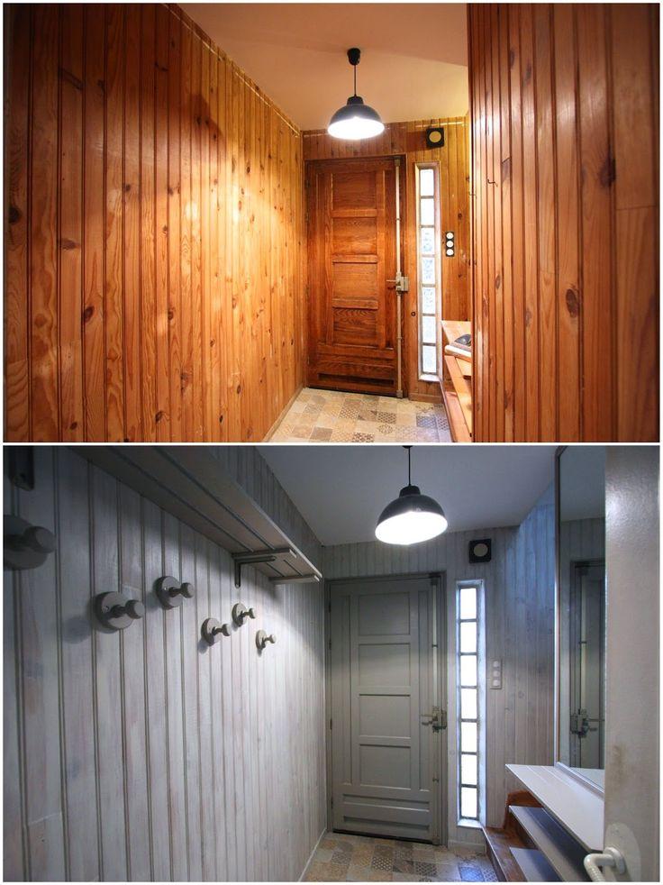 Un nouveau regard: Avant/Après d'une entrée en lambris avec les peintures Maison déco