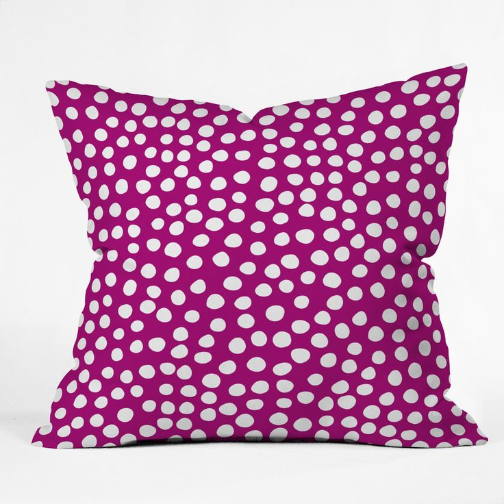 Rachael Taylor Urban Dot Purple Throw Pillow | DENY Designs Home Accessories