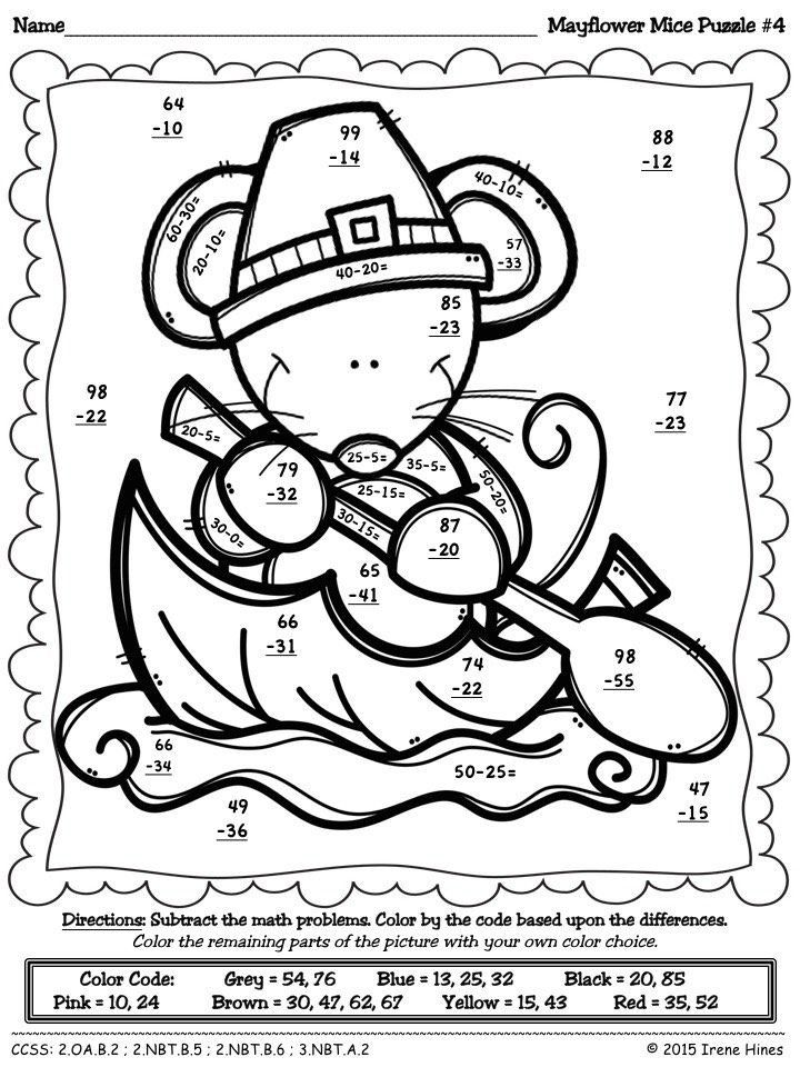 Turkey Addition Coloring Page Youngandtae Com Thanksgiving Math Activities Addition Coloring Worksheet Thanksgiving Math