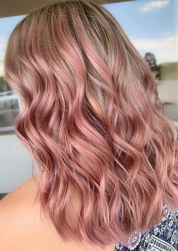 Adorable Rose Gold Hair Color Blends for Ladies in 2019 Gorgeous Rose Gold Hair …
