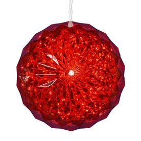 Northlight Penn Pre-Lit Ball Sculpture With Constant Red Led Lights At