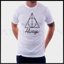 Harry potter films film t- shirt katoen lycra top 11039 mode merk mannen t-shirt nieuwe diy stijl van hoge kwaliteit(China (Mainland))