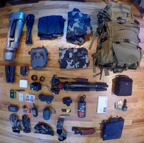 Elk hunting packing gear