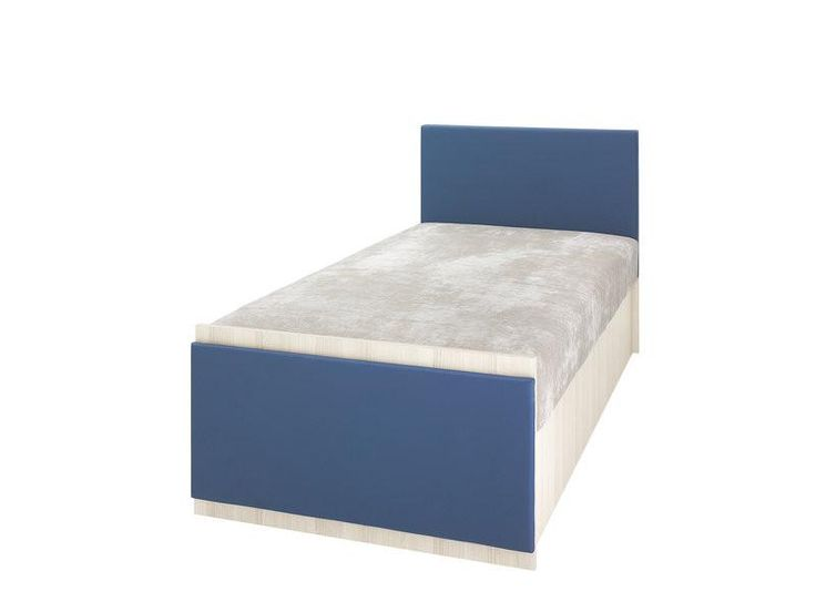 --- ONLY £229 INC.VAT --- *** FREE DELIVERY !! *** The single bed-Blue with built-in:  container bonnell spring mattress Colour: Ash/Blue  Dimensions (cm): Width:210 x Height:85 x Depth:95  This product comes flat packed and requires assembly.  Warranty 24 months.