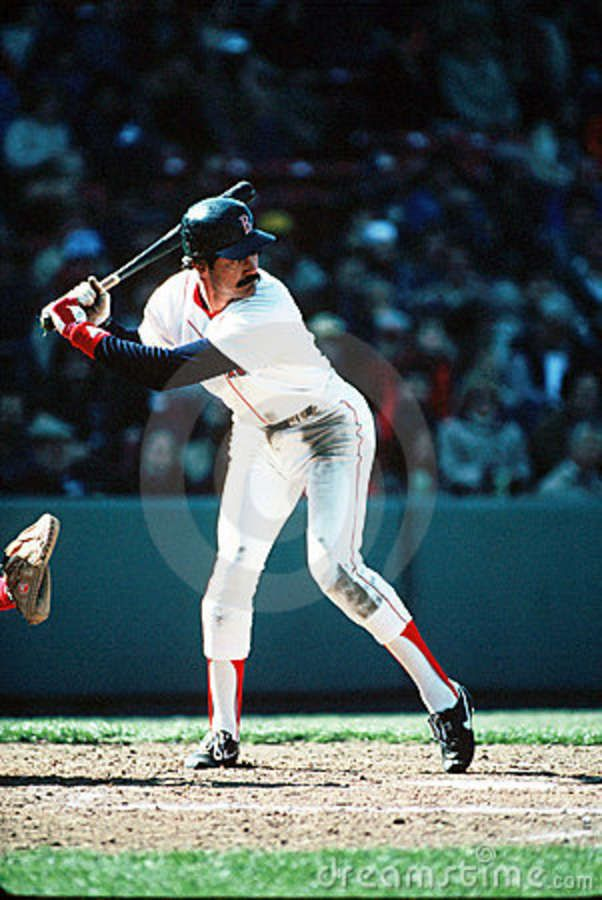 Dwight Evans (or Dewey). A brilliant right fielder. He comes into my Starbucks, and I love it. A legend.