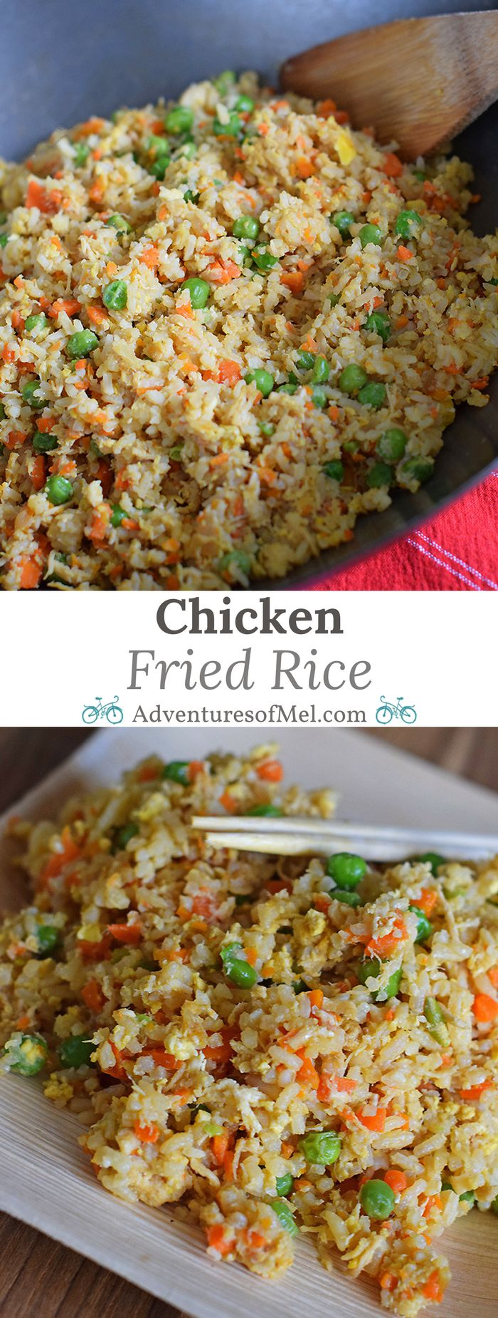 Chicken Fried Rice is one of my favorite things to order when we go out to eat. Now we make it at home, thanks to my husband's delicious recipe, and it's so much better than takeout. Plus you can use the leftovers to make Chicken Fried Rice Spring Rolls, yet another one of our favorite Asian foods! via @mellockcuff