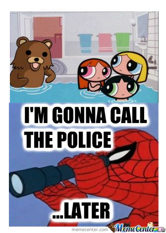 Spiderman And Pedobear - Meme Center