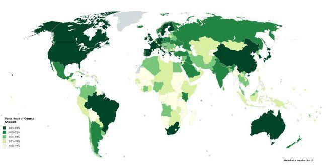 Χάρτης: Πόσο αναγνωρίσιμη είναι η ελληνική σημαία; - Viral - NEWS247