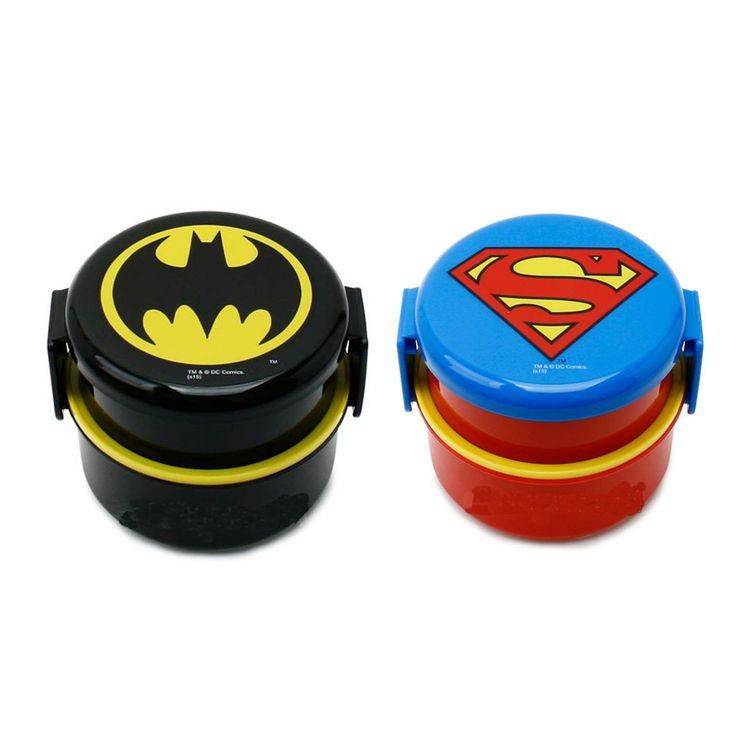 Hero Super Man Batman Lunch Box wirh Fork Bento Picnic Boys School Child Kids