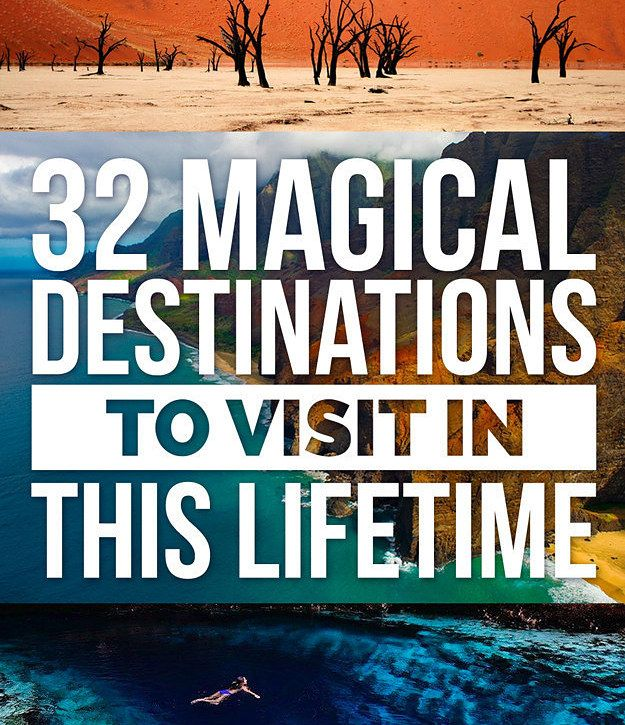 32 Magical Destinations To Add To Your Travel Bucket List I've been t the Wizarding World of Harry Potter (and seeing it again very soon) but I would LOVE to visit these other places