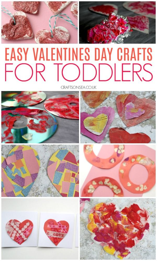 Easy Valentines Day Crafts For Toddlers Toddlers Pinterest