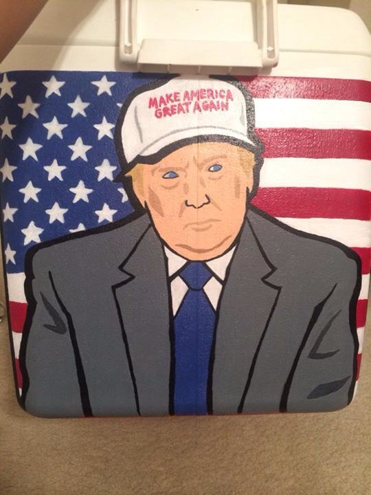 """Donald trump cooler side ALMOST A MUST!!! """"Make America frat again"""""""