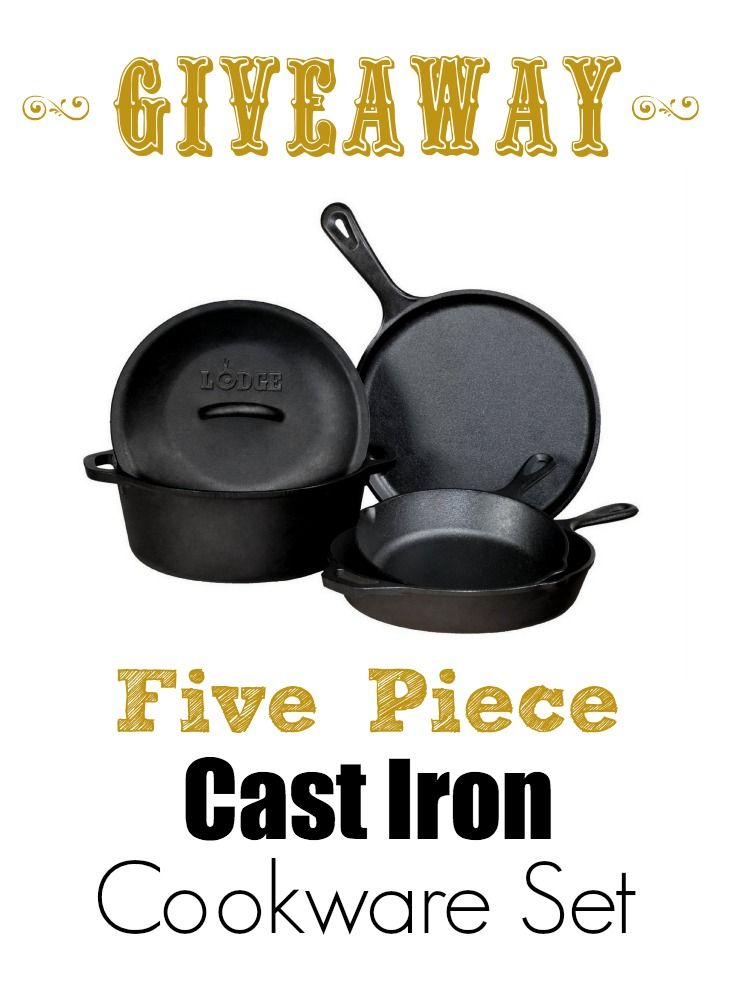Mommypotamus November giveaway - cast iron! I use my cast iron skillet to roast, sautee, bake, fry and reheat food. If I had a whole set, I'd probably never touch my stainless again!